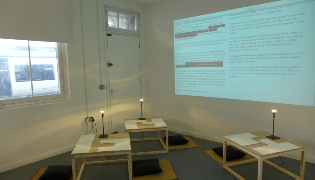 The Reading Laboratory, 2013; installation shot