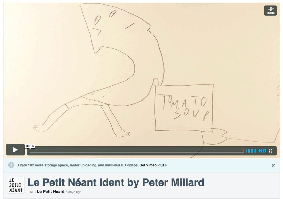 Peter Millard ident on Vimeo