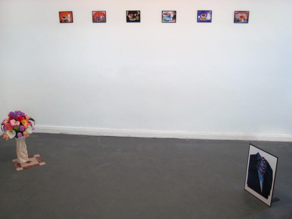 Clockwise: Flowers (Arrangement), 2013; Still Life 1, Still Life 2, Still Life 3, Still Life 7, Still Life 13, Still Life 16, 2013; 28.psd (Suit stack), 2013
